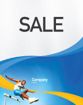 Sports: Obstacle Course Sale Poster Template #01949