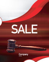 Legal: Judge Mallet Sale Poster Template #01953