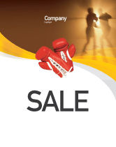 Sports: Boxing Ring Sale Poster Template #01981