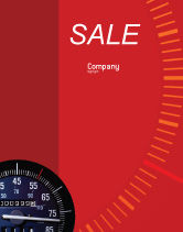 Cars/Transportation: Speedometer Sale Poster Template #01985