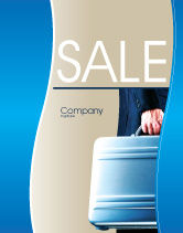 Business Concepts: Suitcase  Sale Poster Template #01996