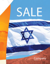 Flags/International: Flag of Israel Sale Poster Template #02002