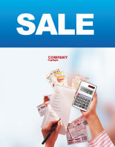 Financial/Accounting: Templat Poster Diskon #02004