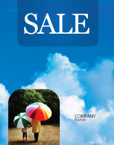 Nature & Environment: Cloudy Sky Sale Poster Template #02006
