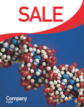 Technology, Science & Computers: Molecular Modeling Sale Poster Template #02019