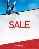Sports: High Jump Sale Poster Template #02020