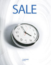 Consulting: Five O'clock Sale Poster Template #02024