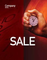 Consulting: Stop-Watch Sale Poster Template #02051
