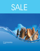 Religious/Spiritual: Children Hands Sale Poster Template #02117