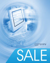Technology, Science & Computers: Digital Computing Technology Sale Poster Template #02160