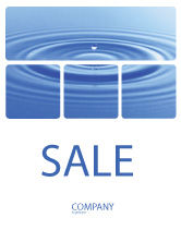 Nature & Environment: Water Purification Sale Poster Template #02190
