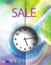 Business: Clock Face Sale Poster Template #02210