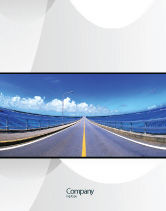 Construction: Highway In A Blue Distance Sale Poster Template #02214