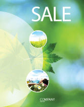 Nature & Environment: Flora Sale Poster Template #02215