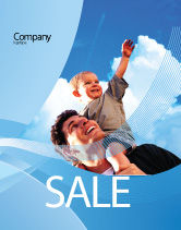 People: Father and Son Sale Poster Template #02217