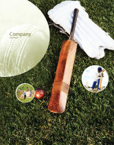 Sports: Cricket Field Sale Poster Template #02251