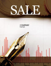 Financial/Accounting: Financial Review Sale Poster Template #02260