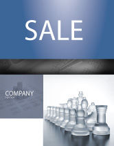 Business: Chess Troops Ready To Fight Sale Poster Template #02273