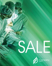 Medical: Scrub Nurse Sale Poster Template #02313