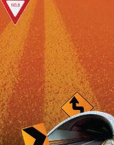 Construction: Tunnel Op Een Oranje Achtergrond Poster Template #02320