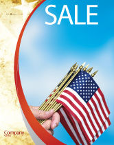 Flags/International: USA Flag Sale Poster Template #02329