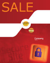 Technology, Science & Computers: Site Security Sale Poster Template #02352