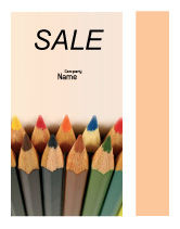 Business Concepts: Color Pencil Sale Poster Template #02353