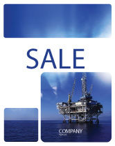Utilities/Industrial: Drilling Platform Sale Poster Template #02356