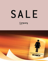 Business Concepts: Icon Women Sale Poster Template #02357