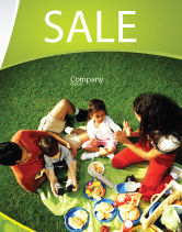People: Family Picnic Sale Poster Template #02364