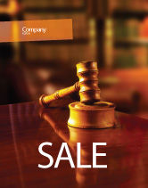 Legal: Juridical Sale Poster Template #02373