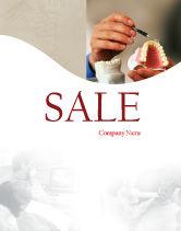 Medical: Denture Sale Poster Template #02385