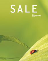 Nature & Environment: Lady-beetly Sale Poster Template #02410