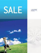 Sports: Archery Sale Poster Template #02411