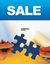 Business Concepts: Pieces of Puzzle Sale Poster Template #02430