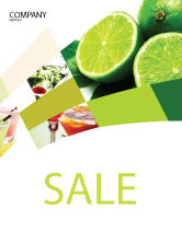 Food & Beverage: Lime Sale Poster Template #02460