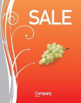 Food & Beverage: Bottle of Wine Sale Poster Template #02476
