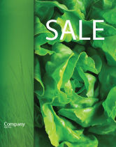 Agriculture and Animals: Lettuce Sale Poster Template #02484