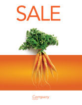 Agriculture and Animals: Carrot Sale Poster Template #02511