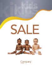 People: Nursery Sale Poster Template #02518