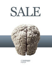 Medical: Brain In Gray Sale Poster Template #02541