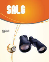 Business: Binoculars Sale Poster Template #02558