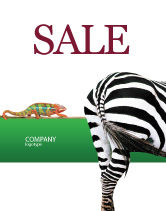 Agriculture and Animals: Zebra Sale Poster Template #02564