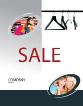 Business Concepts: Clothes Hangers Sale Poster Template #02565