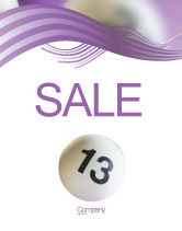 Art & Entertainment: Lotto Balls Sale Poster Template #02574