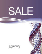 Medical: DNA On A Violet Sale Poster Template #02581