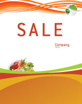Food & Beverage: Vegetarian Food Sale Poster Template #02582