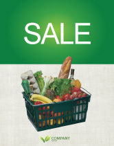 Careers/Industry: Market Basket Sale Poster Template #02583