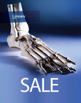 Medical: Skeletal Foot Sale Poster Template #02589