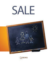 Education & Training: Kids and School Sale Poster Template #02597